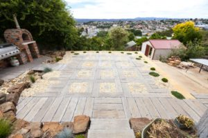 simple timber paving