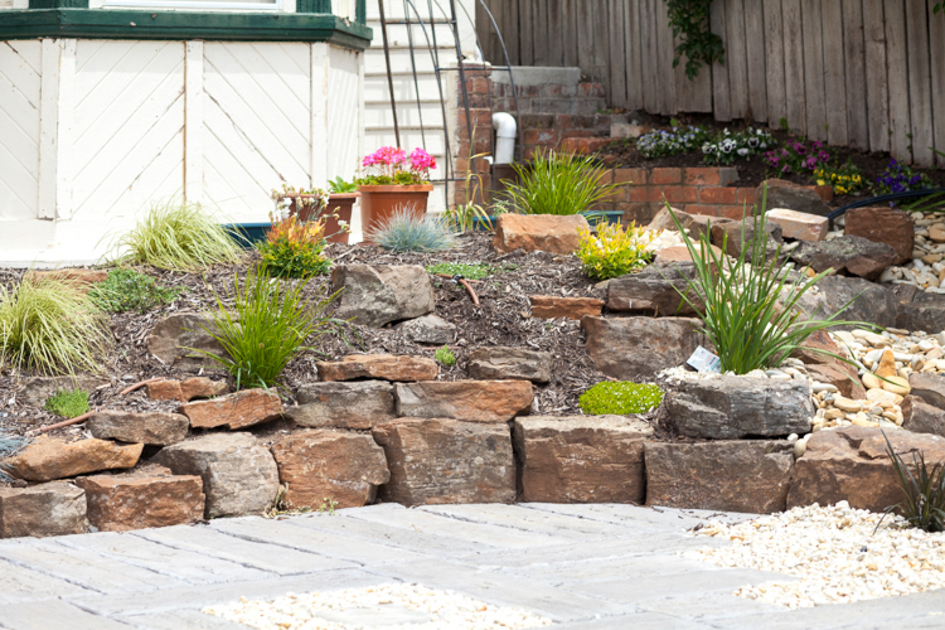 Rock Wall With Horticulture Surround