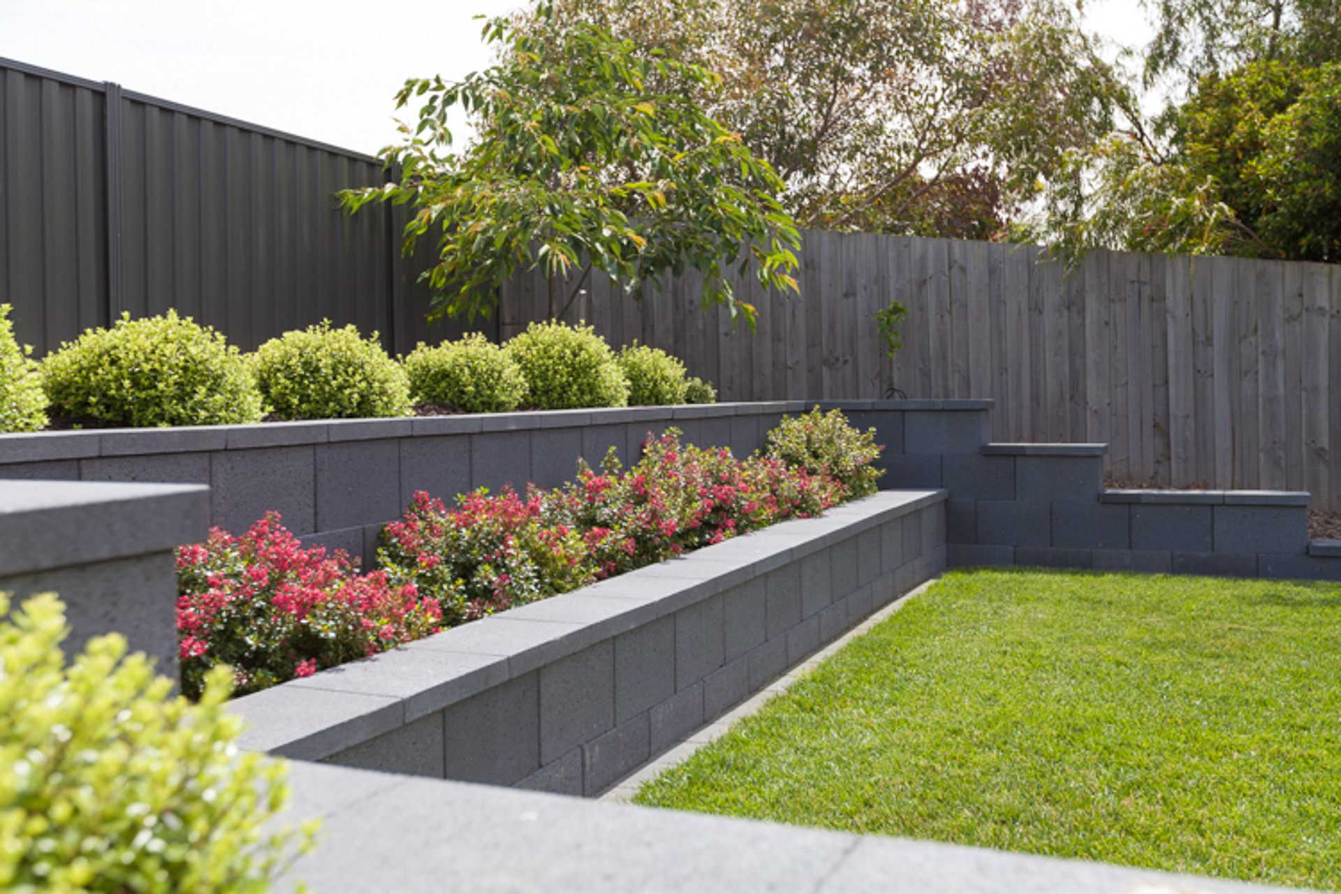 Retaining Walls - Andrew Nicholson Landscapes on Back Wall Garden Ideas id=51045
