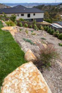rocks sloping block landscape