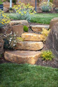 boulder work, stones, landscaping