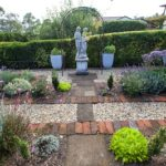 cottage, garden, launceston, garden style, statues