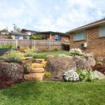boulders, garden, rocks, yard, backyard, launceston